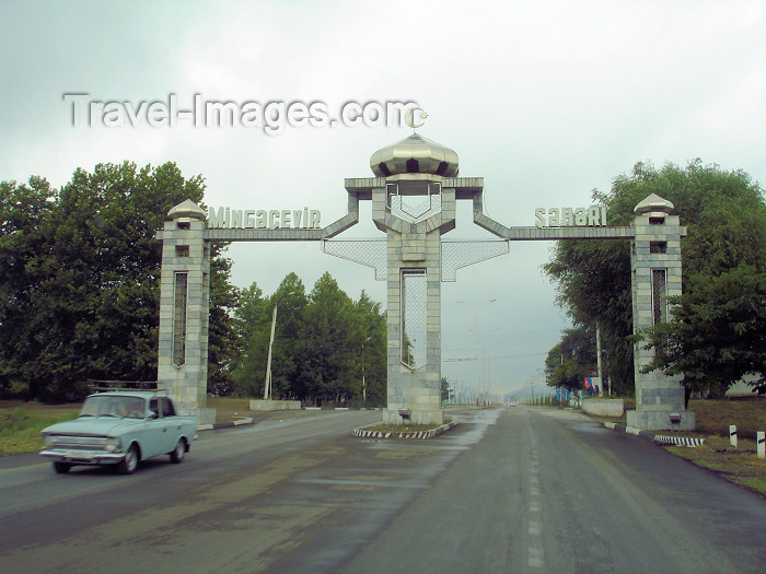 azer178: Mingechaur / Mingechavir, Azerbaijan - town gates - photo by F.MacLachlan - (c) Travel-Images.com - Stock Photography agency - Image Bank
