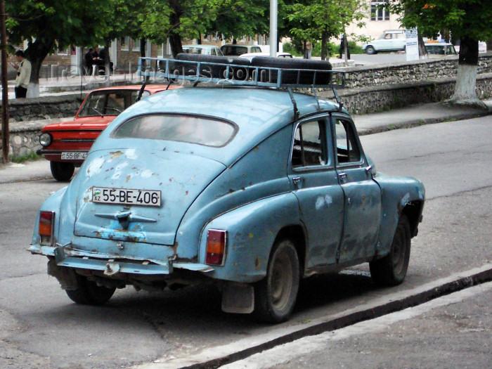 azer186: Sheki, Azerbaijan: a very old GAZ-M20 Pobeda - Soviet car - photo by L.McKay - (c) Travel-Images.com - Stock Photography agency - Image Bank