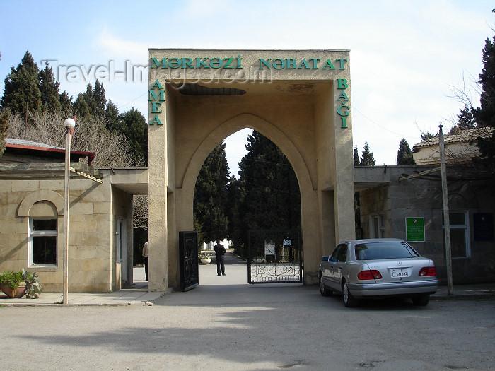 azer187: Baku, Azerbaijan: Botanical garden of the Azerbaijan Academy of Sciences - entrance - photo by  F.MacLachlan - (c) Travel-Images.com - Stock Photography agency - Image Bank