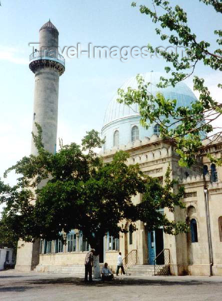 azer19: Azerbaijan - Baku: Ajdar Bey Mosque - 'Goy' Blue Mosque - S. Vurgun street -  photo by M.Torres - (c) Travel-Images.com - Stock Photography agency - Image Bank
