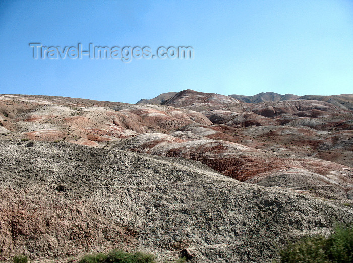 azer198: Siyazan rayon, NE Azerbaijan: the Candy Cane mountains - along Candy Canyon - photo by N.Mahmudova - (c) Travel-Images.com - Stock Photography agency - Image Bank