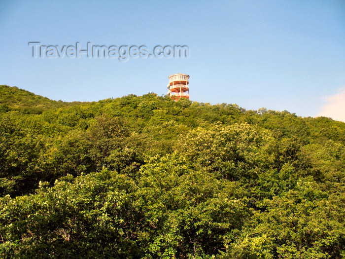 azer201: Azerbaijan - Altyaghach National Park, Xizi rayon: forest and watch tower - Altyaghaj - Altiagac - nature of Azerbaijan - photo by N.Mahmudova - (c) Travel-Images.com - Stock Photography agency - Image Bank