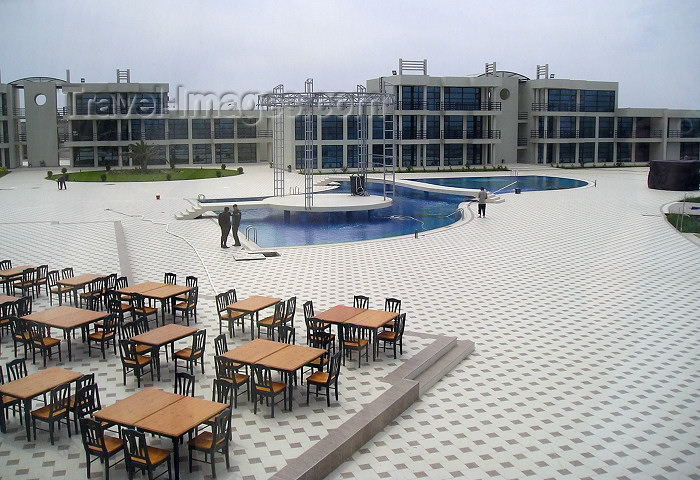 azer244: Azerbaijan - Mardakan / Mardakyan - Baki Sahari:  Khazar Golden Beach Hotel & Resort  - pool area - Sahil beach - photo by F.MacLachlan - (c) Travel-Images.com - Stock Photography agency - Image Bank