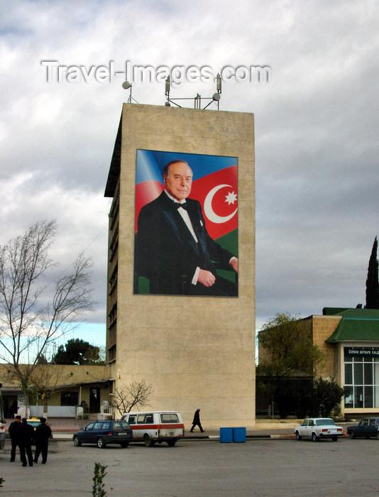 azer266: Ganca, Azerbaijan: Aliyev regime propaganda - photo by N.Mahmudova - (c) Travel-Images.com - Stock Photography agency - Image Bank