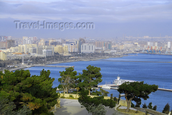 azer270: Azerbaijan - Baku: over the harbour and the marina - photo by M.Torres - (c) Travel-Images.com - Stock Photography agency - Image Bank
