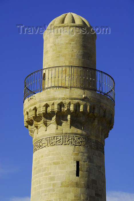 azer272: Azerbaijan - Baku: minaret of the Royal Mosque at the Shirvan Shah's palace - UNESCO world heritage - photo by M.Torres - (c) Travel-Images.com - Stock Photography agency - Image Bank