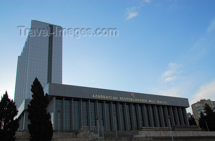 azer274: Azerbaijan - Baku: parliament - National Assembly - Milli Mejlis - photo by Miguel Torres - (c) Travel-Images.com - Stock Photography agency - Image Bank