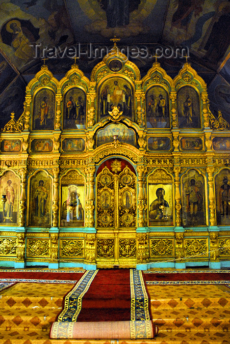 azer281: Azerbaijan - Baku: Russian Orthodox Church of Archangel Michael - iconostasis - Pskov style - oldest surviving Orthodox church in Baku - photo by Miguel Torres - (c) Travel-Images.com - Stock Photography agency - Image Bank
