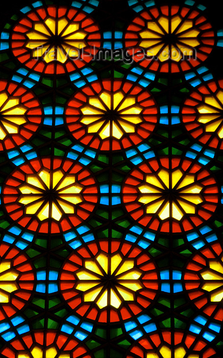 azer284: Azerbaijan - Baku: Martyrs mosque - stained glass work known as 'shebeke' - photo by Miguel Torres - (c) Travel-Images.com - Stock Photography agency - Image Bank