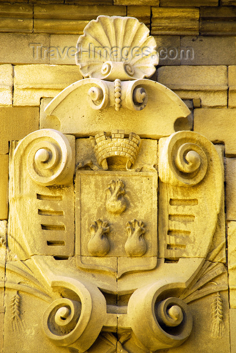 azer293: Azerbaijan - Baku: Baku coat of arms on the city walls - photo by M.Torres - (c) Travel-Images.com - Stock Photography agency - Image Bank