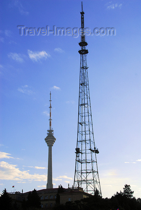 azer294: Azerbaijan - Baku: radio tower and TV tower - photo by M.Torres - (c) Travel-Images.com - Stock Photography agency - Image Bank