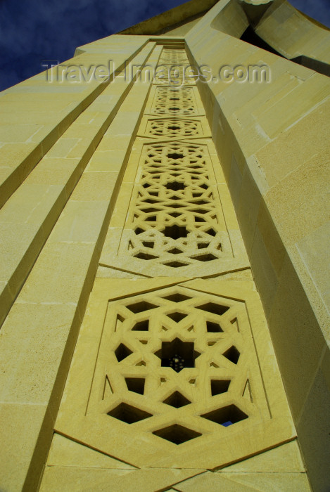 azer299: Azerbaijan - Baku: monument on Martyrs' Lane - decoration - Islamic Geometry - Nakhichevan tomb style - Shahidlar Hiyabany - photo by M.Torres - (c) Travel-Images.com - Stock Photography agency - Image Bank