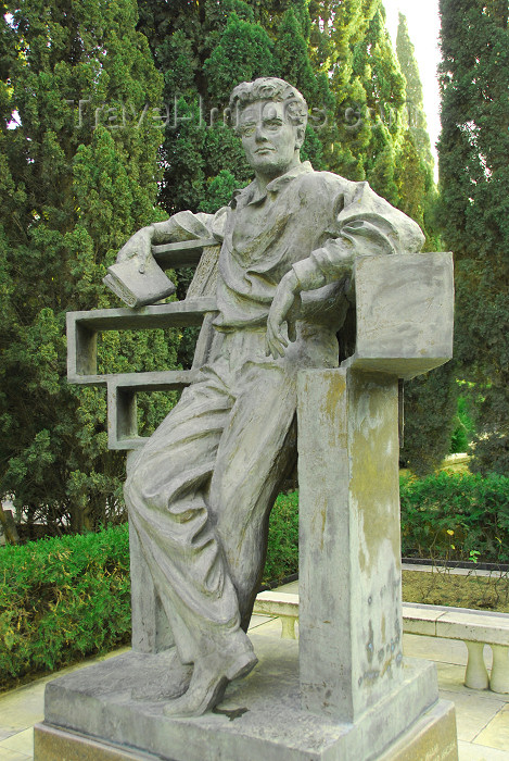 azer308: Azerbaijan - Baku: tomb of Shikhali Gurbanov, Azeri communist, first secretary of the central committee of Azerbaijan's Communist Party - Honour cemetery - photo by M.Torres - (c) Travel-Images.com - Stock Photography agency - Image Bank