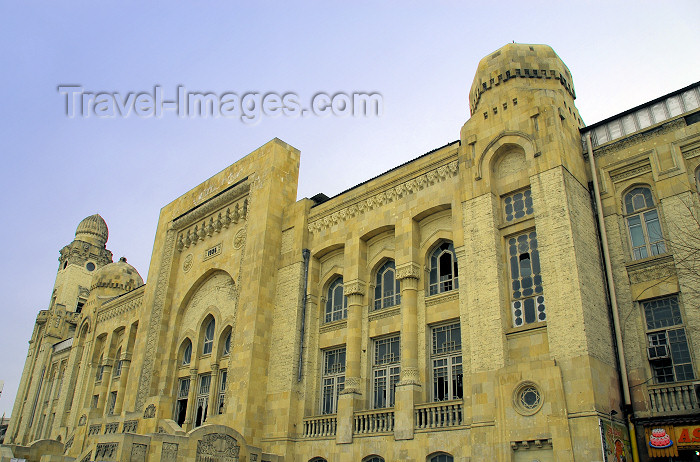 azer31: Azerbaijan - Baku: old building of the Train station - on Jafar Jabbarli sq. / Baki Vagzali (photo by M.Torres) - (c) Travel-Images.com - Stock Photography agency - Image Bank