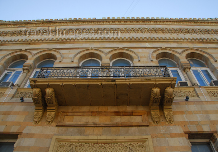 azer328: Azerbaijan - Baku: mourisque architecture - Huseyn Cavid museum - Baku's Institute of Manuscripts - built by Oil Baron Taghiyev to house the first boarding school for Muslim girls - Istiglaliyyat Avenue - architect Joseph V. Goslavsky - photo by Miguel To - (c) Travel-Images.com - Stock Photography agency - Image Bank
