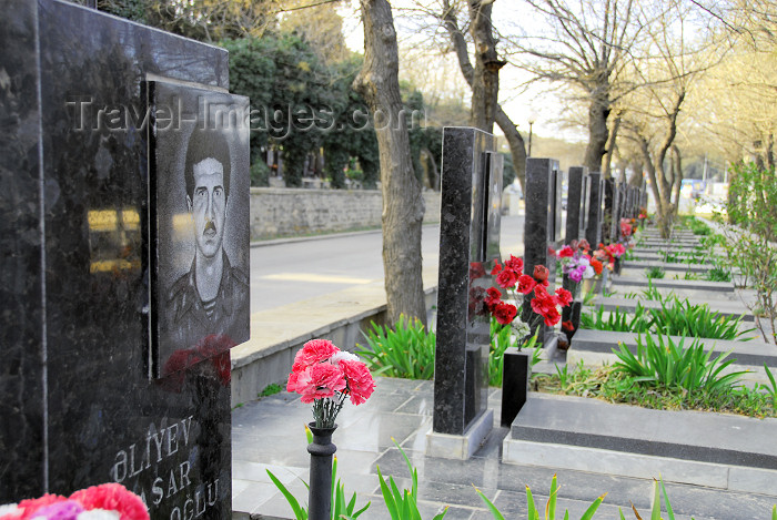 azer332: Azerbaijan - Baku: Nagorno Karabakh war graves on Martyrs' Lane - Shahidlar Hiyabany - photo by M.Torres - (c) Travel-Images.com - Stock Photography agency - Image Bank