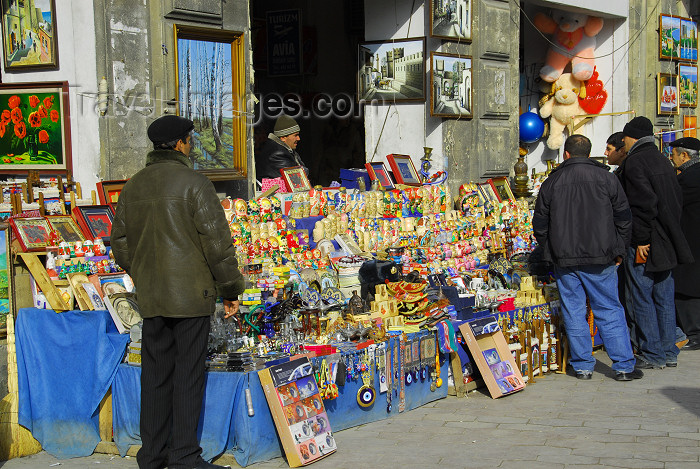azer342: Azerbaijan - Baku: street sellers - matrioshki dolls, evil eye amulets and assorted kitsch - souvenirs - photo by M.Torres - (c) Travel-Images.com - Stock Photography agency - Image Bank