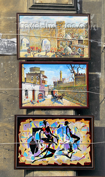 azer343: Azerbaijan - Baku: local artists sell their paintings - art - photo by M.Torres - (c) Travel-Images.com - Stock Photography agency - Image Bank