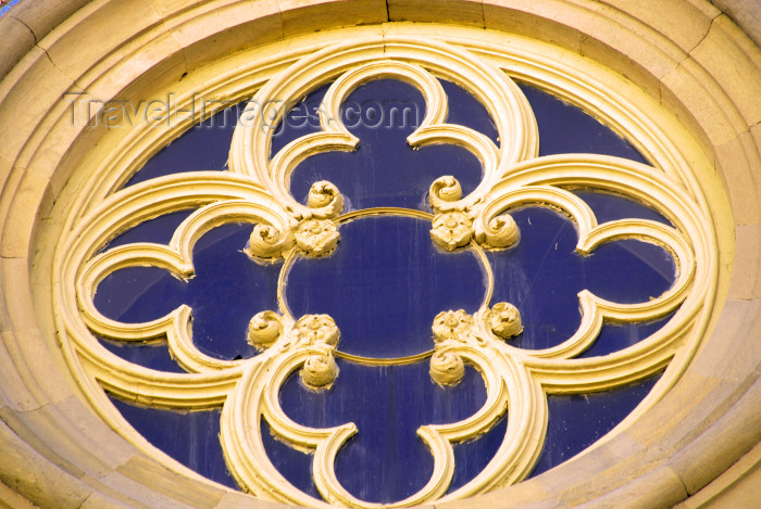 azer349: Azerbaijan - Baku: Academy of Sciences - window detail - Gothic - photo by M.Torres - (c) Travel-Images.com - Stock Photography agency - Image Bank