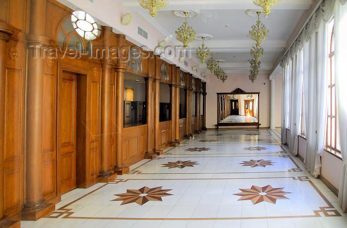 azer356: Azerbaijan - Baku: Muslim Magomayev State Philarmony /  philharmonic - architect G.Termikelov - foyer - atrium - lobby - Istiglaliyyat Street - photo by M.Torres - (c) Travel-Images.com - Stock Photography agency - Image Bank