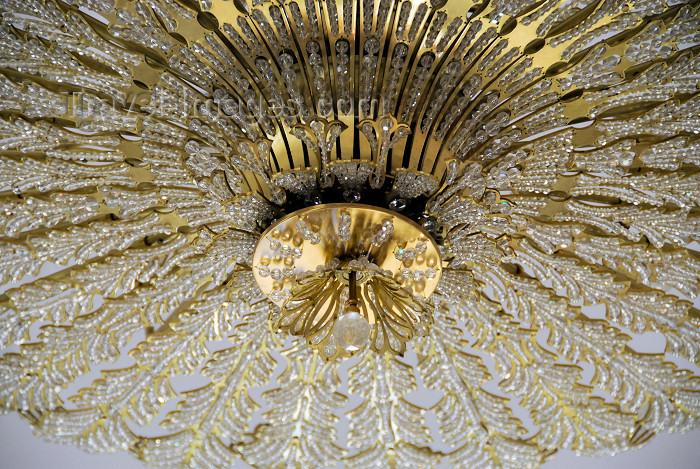 azer357: Azerbaijan - Baku: Muslim Magomayev State Philarmony /  philharmonic - architect G.Termikelov - chandelier - Istiglaliyyat Street - photo by M.Torres - (c) Travel-Images.com - Stock Photography agency - Image Bank