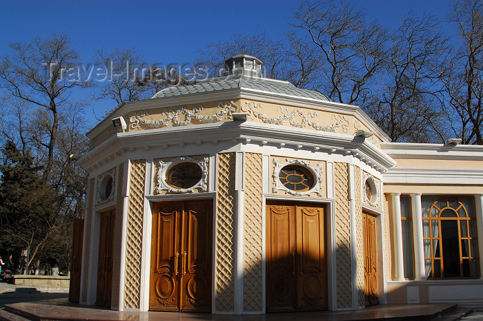 azer358: Azerbaijan - Baku: Muslim Magomayev State Philarmony /  philharmonic - architect G.Termikelov - entrance - Istiglaliyyat Street - photo by M.Torres - (c) Travel-Images.com - Stock Photography agency - Image Bank