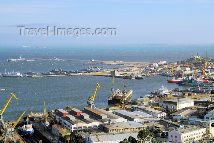 azer375: Azerbaijan - Baku: harbour - western section, including the military harbour - Azerbaijan's navy - Caspian Flotilla - photo by M.Torres - (c) Travel-Images.com - Stock Photography agency - Image Bank