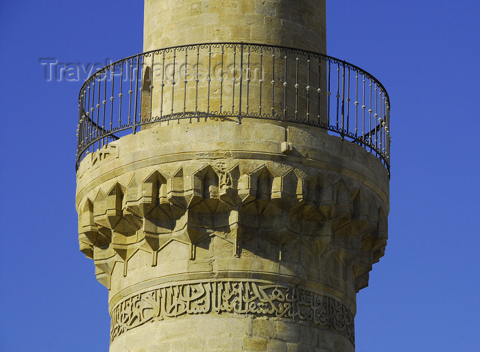azer384: Azerbaijan - Baku: Royal mosque - detail of the minaret's balcony - Shirvan Shah's palace / Shirvanshahlar sarayi - Unesco world heritage - photo by Miguel Torres - (c) Travel-Images.com - Stock Photography agency - Image Bank