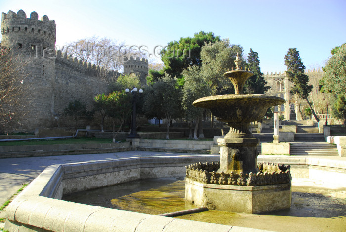 azer397: Azerbaijan - Baku: old town walls - fountain near Murad gate - photo by Miguel Torres - (c) Travel-Images.com - Stock Photography agency - Image Bank