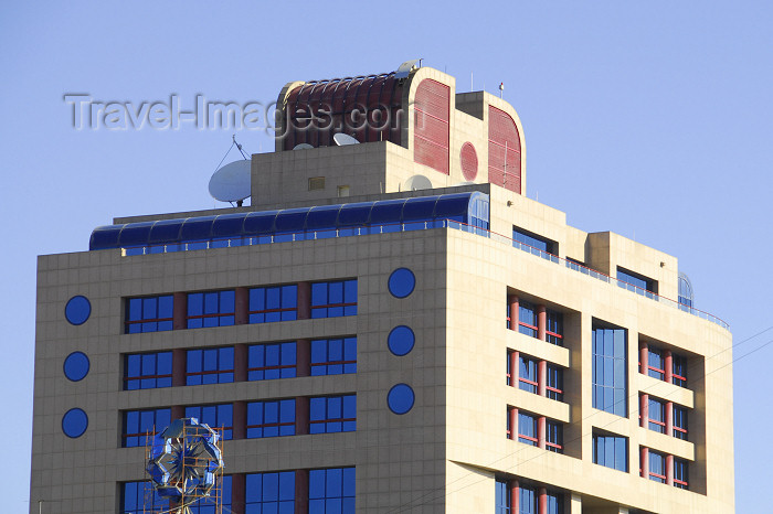 azer398: Azerbaijan - Baku: ISR Plaza building - top floors, housing the Radisson SAS hotel - photo by Miguel Torres - (c) Travel-Images.com - Stock Photography agency - Image Bank