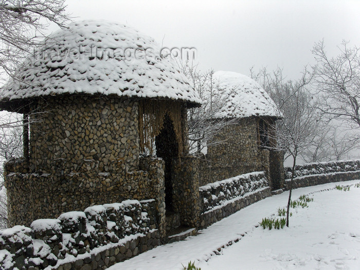 azer415: Aqsu / Agsu, Azerbaijan: winter scene - snow at Chanlibel restaurant - photo by N.Mahmudova - (c) Travel-Images.com - Stock Photography agency - Image Bank