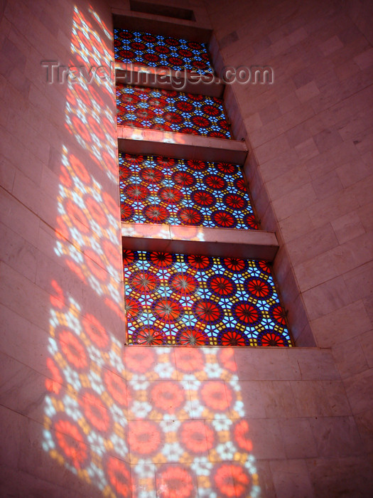 azer423: Ganca / Ganja - Azerbaijan: interior of the Nizami mausoleum - stained glass work known as 'shebeke' - photo by F.MacLachlan - (c) Travel-Images.com - Stock Photography agency - Image Bank