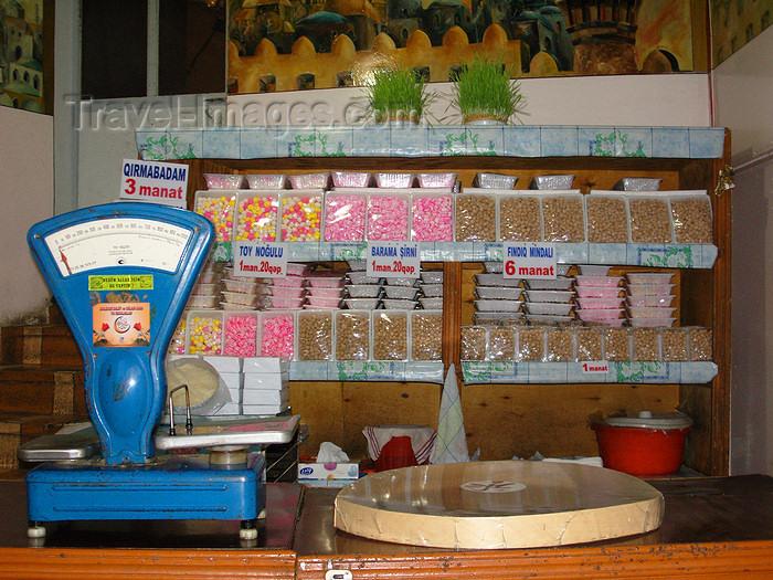 azer433: Sheki / Shaki - Azerbaijan: interior of a halva shop - sweets - photo by N.Mahmudova - (c) Travel-Images.com - Stock Photography agency - Image Bank