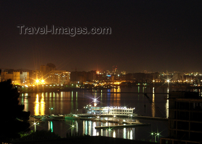 azer457: Azerbaijan - Baku: marina and Baku bay at night  - photo by N.Mahmudova - (c) Travel-Images.com - Stock Photography agency - Image Bank
