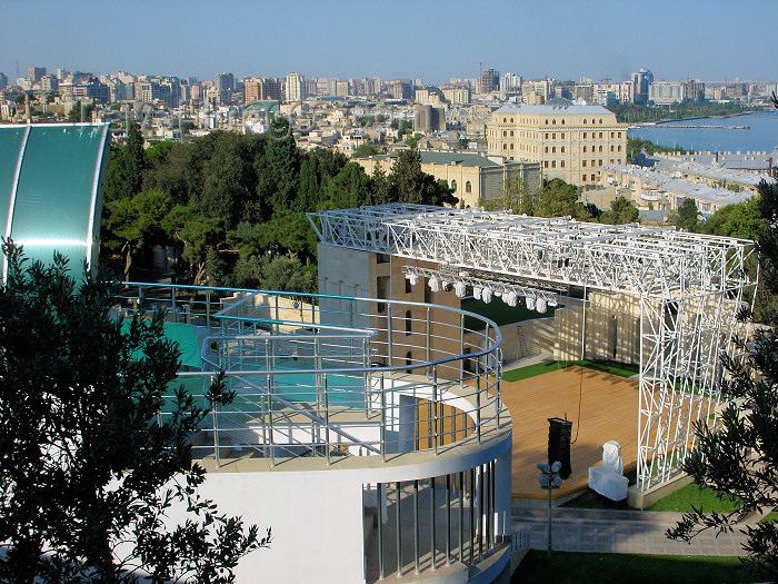 azer461: Baku, Azerbaijan: Green Theater - view of the city - photo by N.Mahmudova - (c) Travel-Images.com - Stock Photography agency - Image Bank