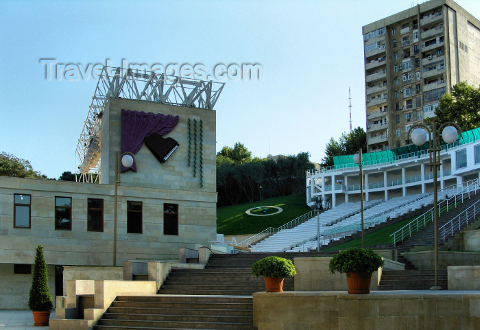 azer462: Baku, Azerbaijan: Green Theater - open air venue on S. Velikhanly street - photo by N.Mahmudova - (c) Travel-Images.com - Stock Photography agency - Image Bank