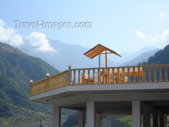 azer466: Azerbaijan - Ilisu - 'Ulu Dag' hotel - terrace - photo by F.MacLachlan - (c) Travel-Images.com - Stock Photography agency - Image Bank