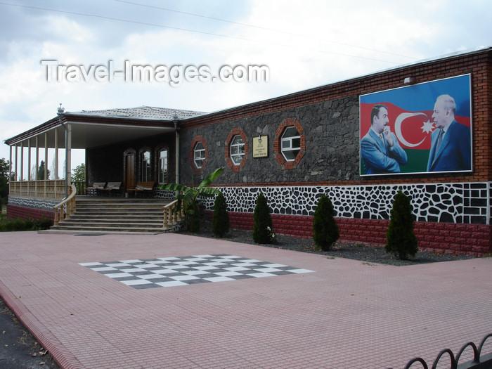 azer470: Azerbaijan - Ilisu - Hamam istisu - the Aliyev dynasty leaves the chessboard empty - photo by F.MacLachlan - (c) Travel-Images.com - Stock Photography agency - Image Bank