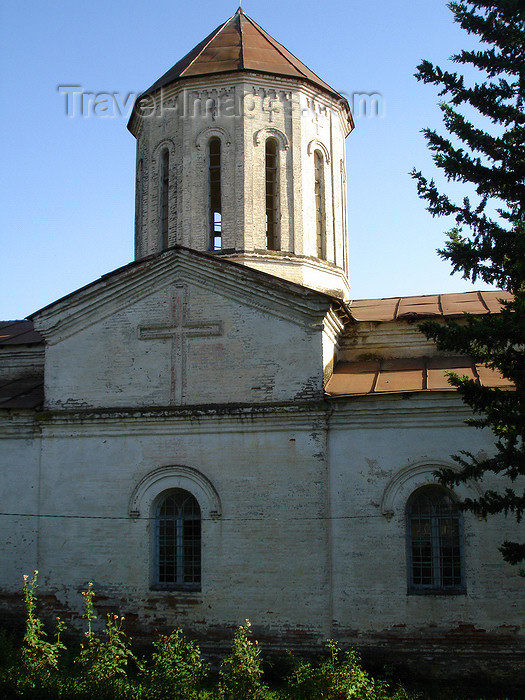azer477: Azerbaijan - Qax - empty Georgian Orthodox church - facade - photo by F.MacLachlan - (c) Travel-Images.com - Stock Photography agency - Image Bank