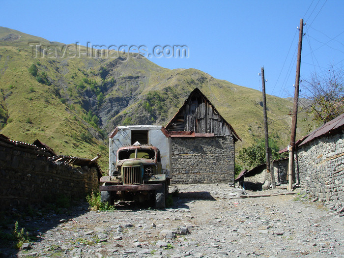 azer490: Azerbaijan - Saribash - village scene - rusting truck  - photo by F.MacLachlan - (c) Travel-Images.com - Stock Photography agency - Image Bank