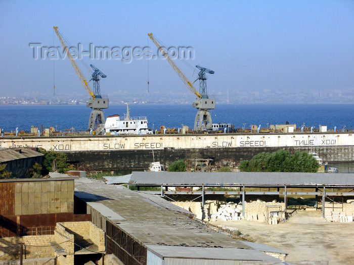 azer491: Azerbaijan - Baku: dry dock in the harbour - photo by N.Mahmudova - (c) Travel-Images.com - Stock Photography agency - Image Bank