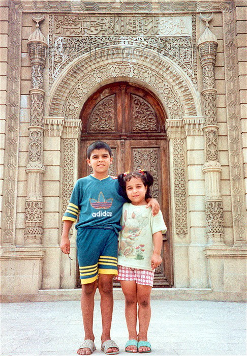 azer5: Baku, Azerbaijan: kids at the Djuma Mosque... formerly carpets museum - old city - photo by M.Torres - (c) Travel-Images.com - Stock Photography agency - Image Bank