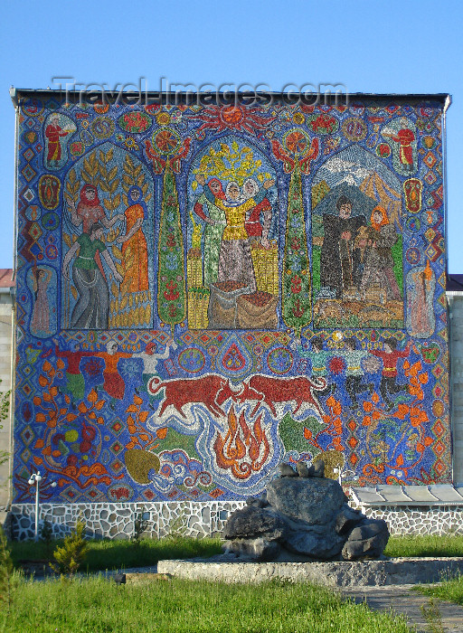 azer503: Qabala, Azerbaijan: Soviet mosaic - F.MacLachlan - (c) Travel-Images.com - Stock Photography agency - Image Bank