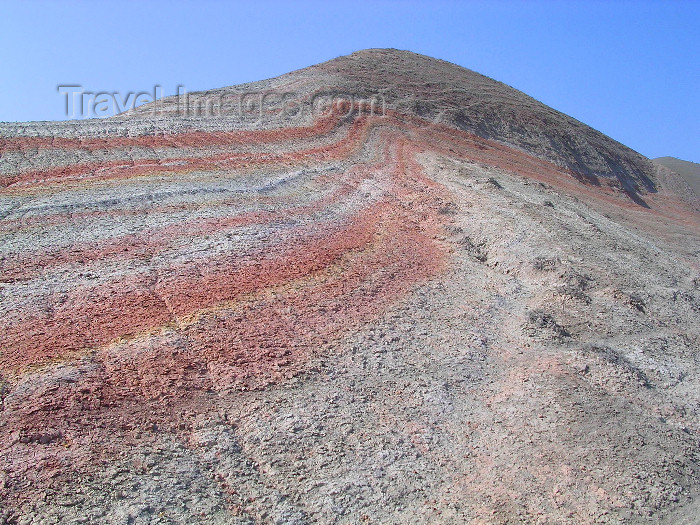 azer507: Siyazan rayon, NE Azerbaijan: the Candy Cane mountains - pink and red candy stripes - photo by G.Monssen - (c) Travel-Images.com - Stock Photography agency - Image Bank