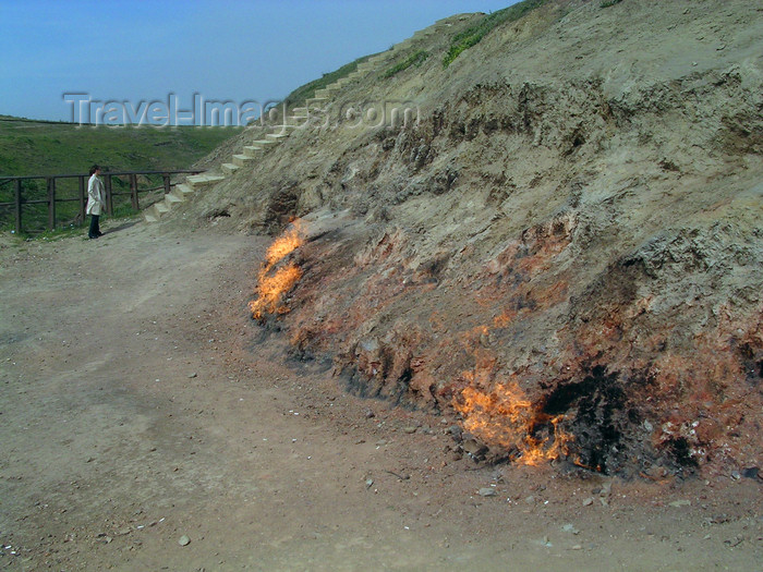 azer513: Surakhany - Absheron peninsula, Azerbaijan: Ateshgah fire temple - fire from the ground - natural gas vents - photo by G.Monssen - (c) Travel-Images.com - Stock Photography agency - Image Bank