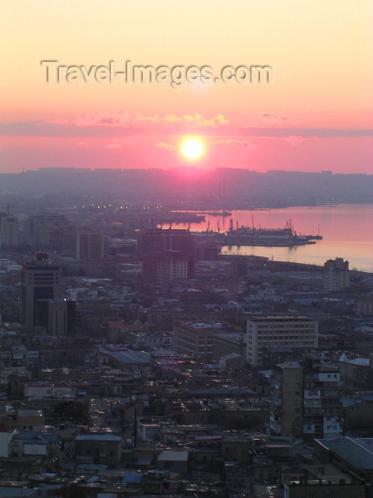azer528: Baku, Azerbaijan: sunset over Baku bay - photo by G.Monssen - (c) Travel-Images.com - Stock Photography agency - Image Bank