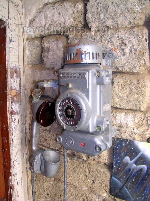 azer529: Baku, Azerbaijan: old telephone - photo by G.Monssen - (c) Travel-Images.com - Stock Photography agency - Image Bank