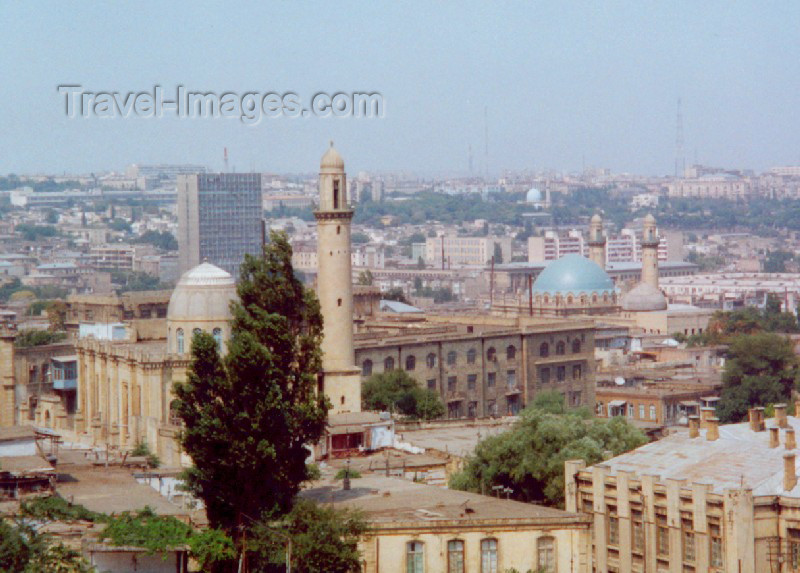 azer53: Azerbaijan - Baku: Domes and minarets - Mosques - photo by Miguel Torres) - (c) Travel-Images.com - Stock Photography agency - Image Bank