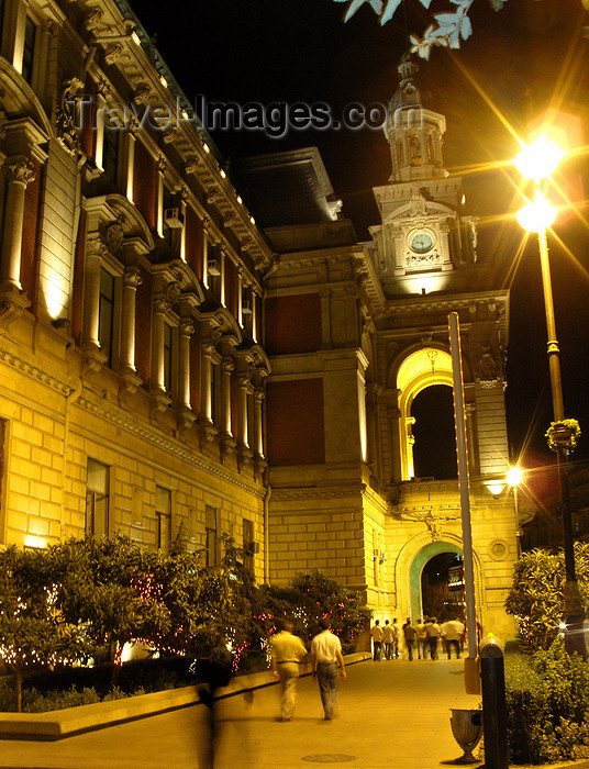 azer547: Baku, Azerbaijan: City Hall - Istiglal st.- nocturnal - photo by N.Mahmudova - (c) Travel-Images.com - Stock Photography agency - Image Bank