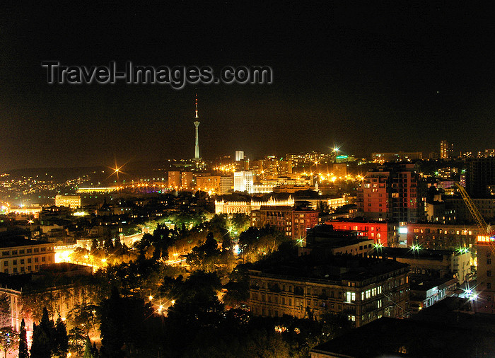 azer551: Baku, Azerbaijan: skyline - nocturnal - photo by N.Mahmudova - (c) Travel-Images.com - Stock Photography agency - Image Bank